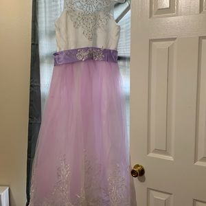 Other - Girl's formal lavender and white formal dress NWT